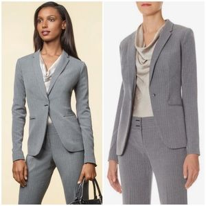 The Limited Scandal Narrow Lapel Pinstriped Jacket